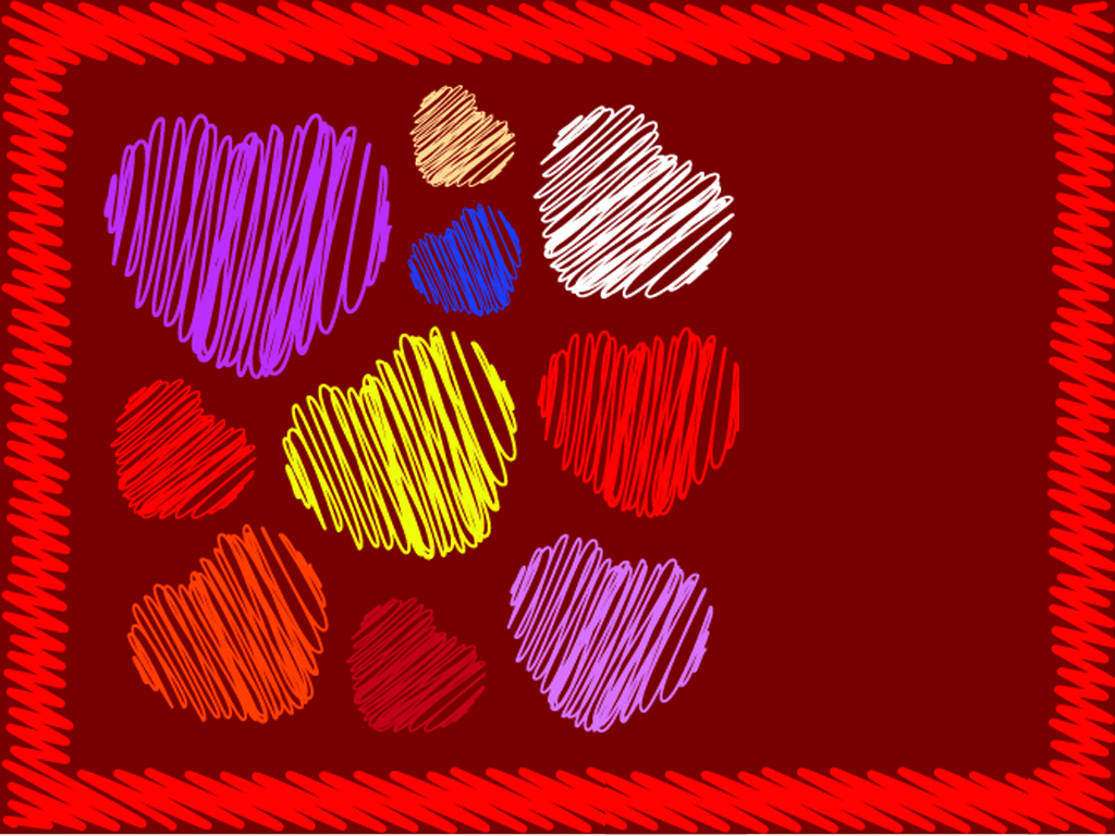 Valentines Scribbles Heart PPT Backgrounds