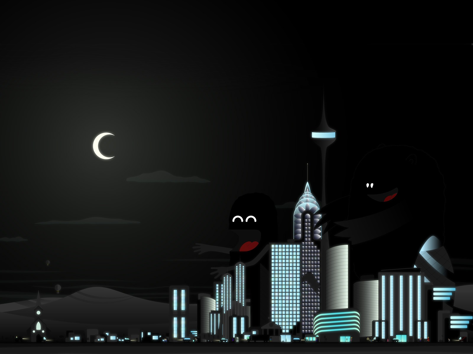 Vector City PPT Backgrounds