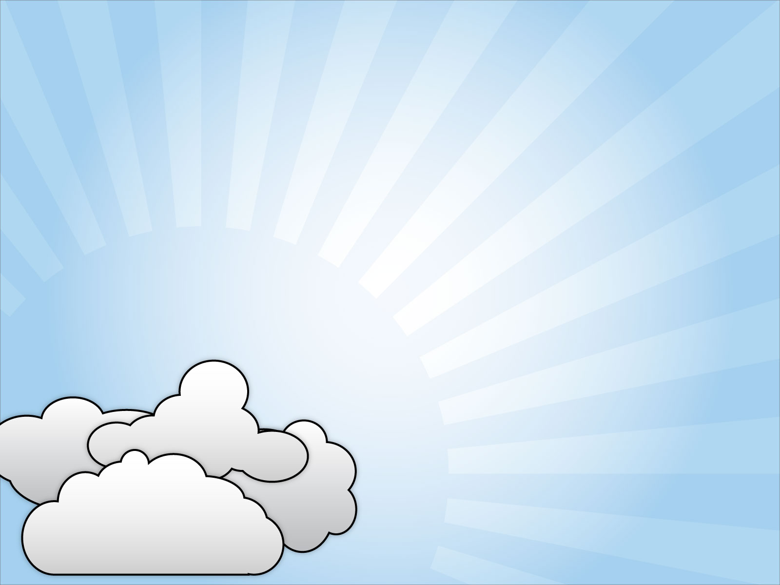 Vector Clouds PPT PPT Backgrounds