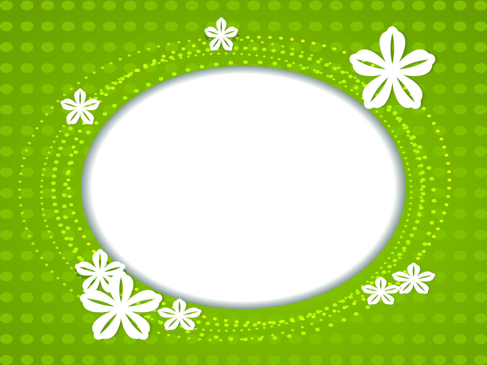 White Flower PPT Backgrounds