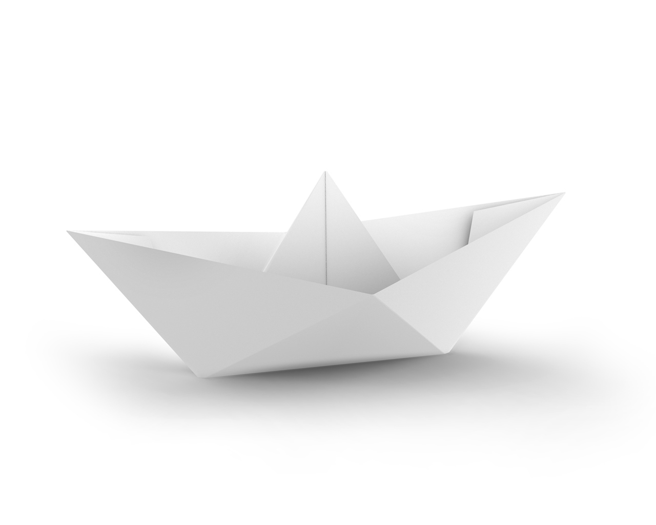 White Paper Boat PPT Backgrounds