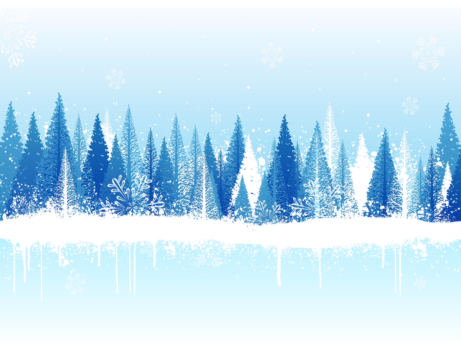 Winter  White Snow PPT Backgrounds