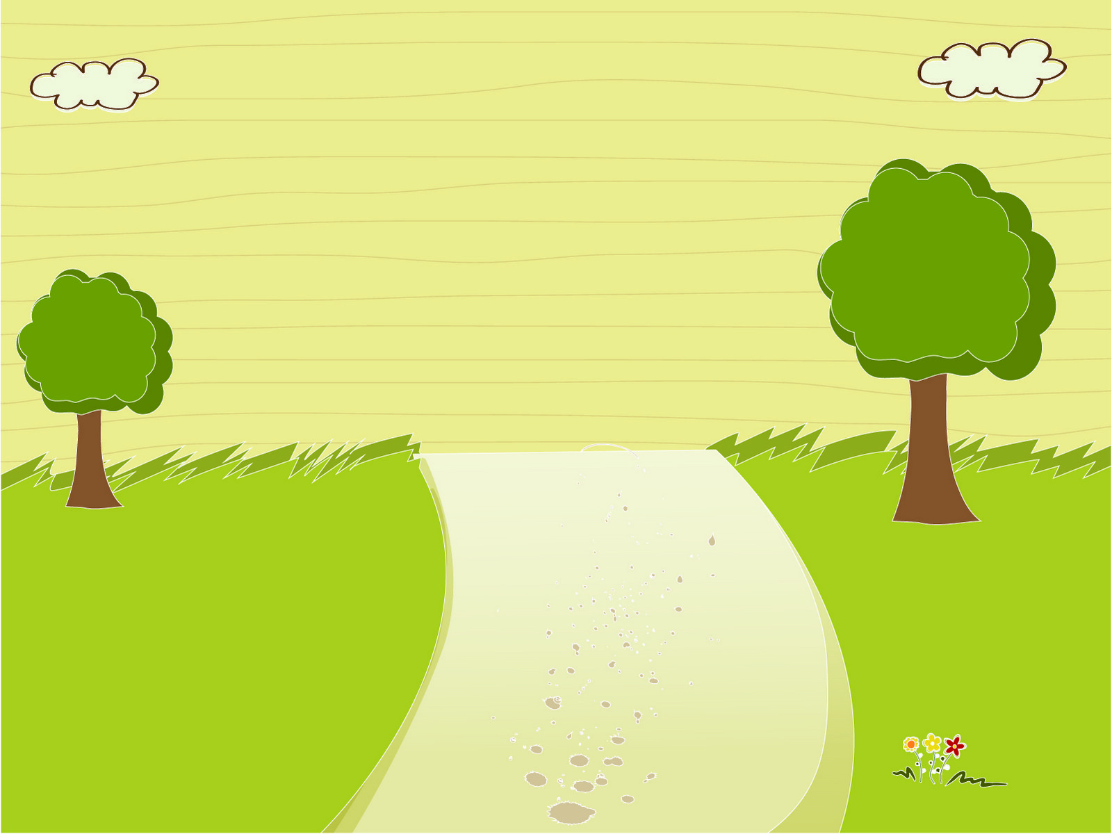 Wooded Rood PPT Backgrounds