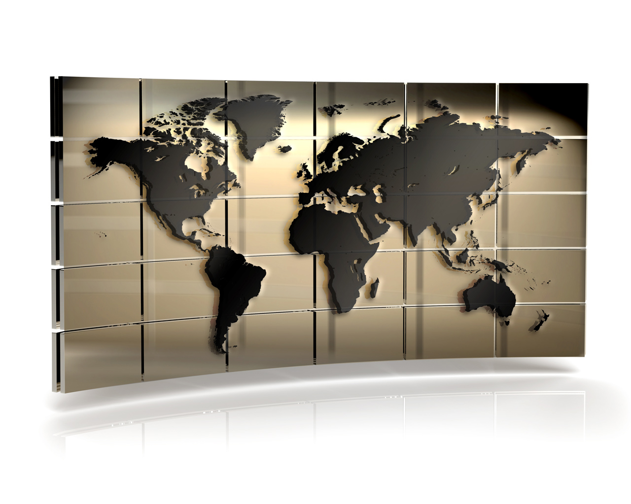 World Map PPT Backgrounds