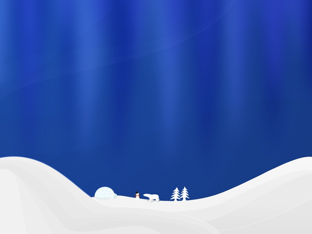 Xmas Winter Night PPT Backgrounds