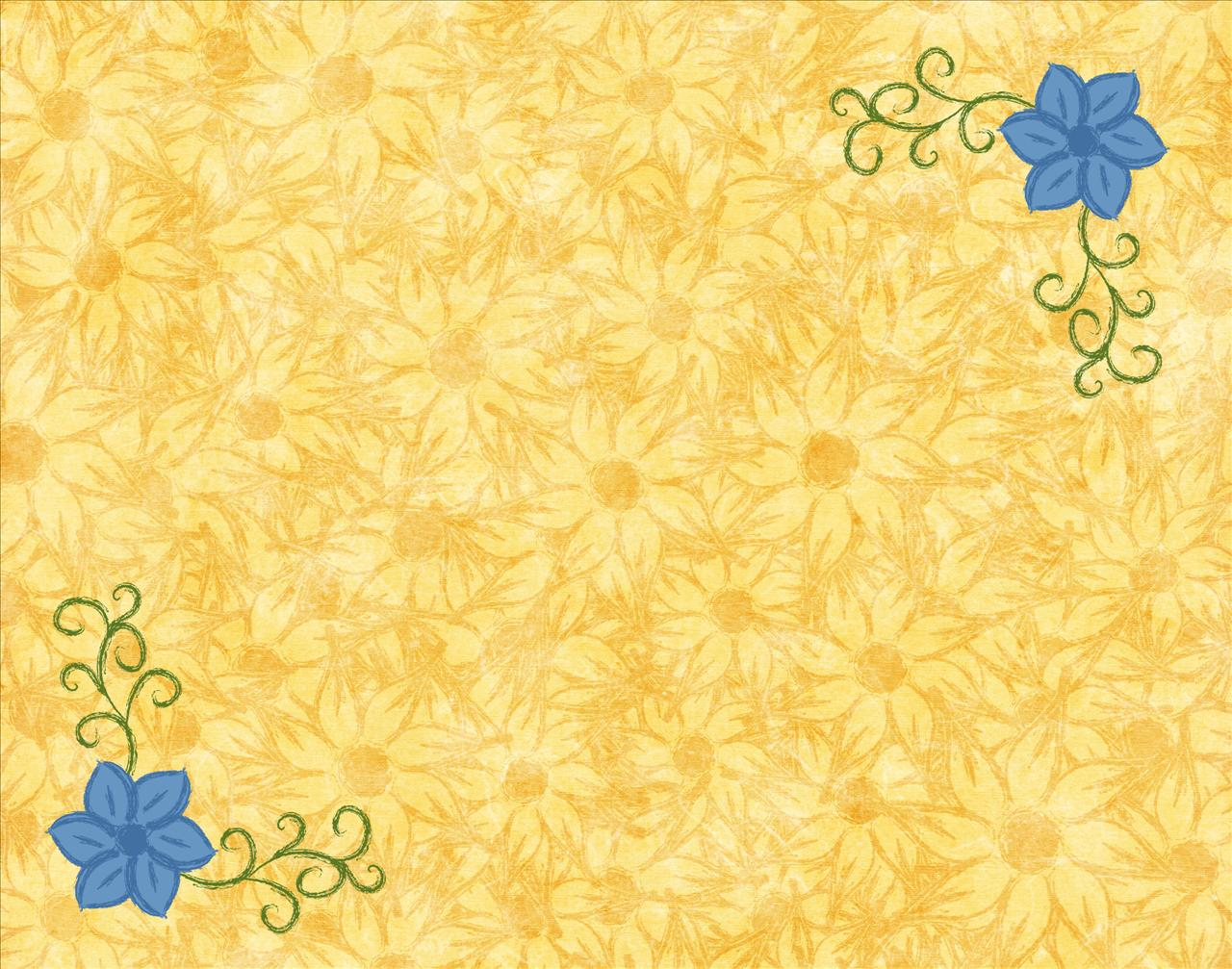 Yellow and Blue Borders PPT Backgrounds