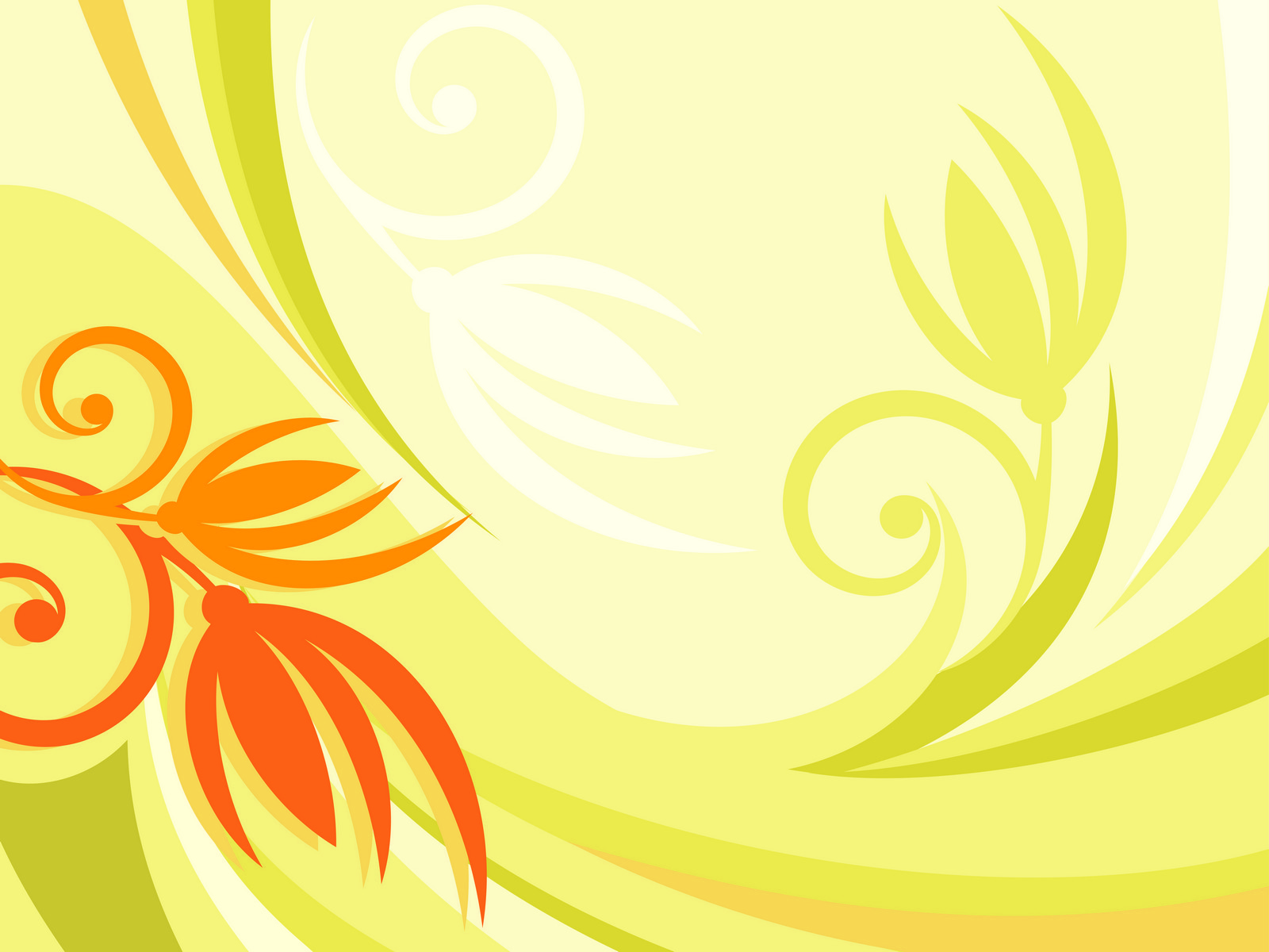Yellow Floral BG PPT Backgrounds