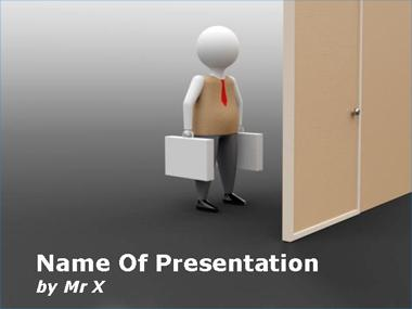 3d Working Man PPT templates