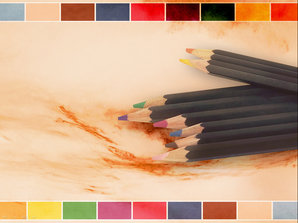Adding color pencils PPT templates