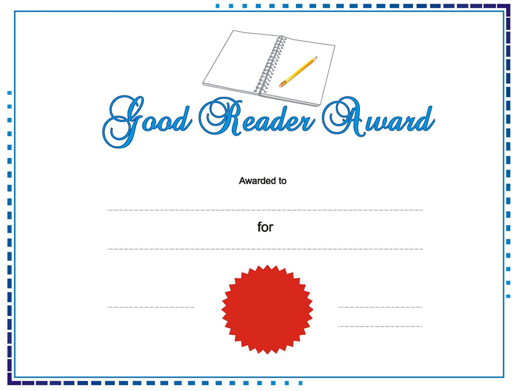Good Reader award PPT templates