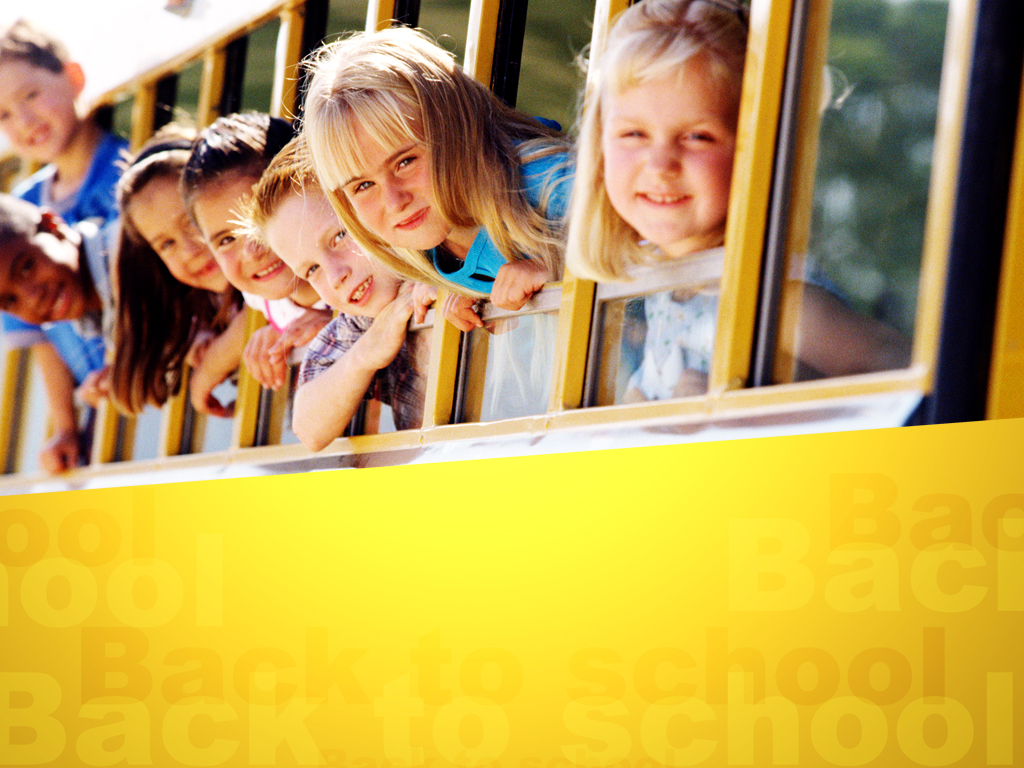 Kids on School Bus PPT templates