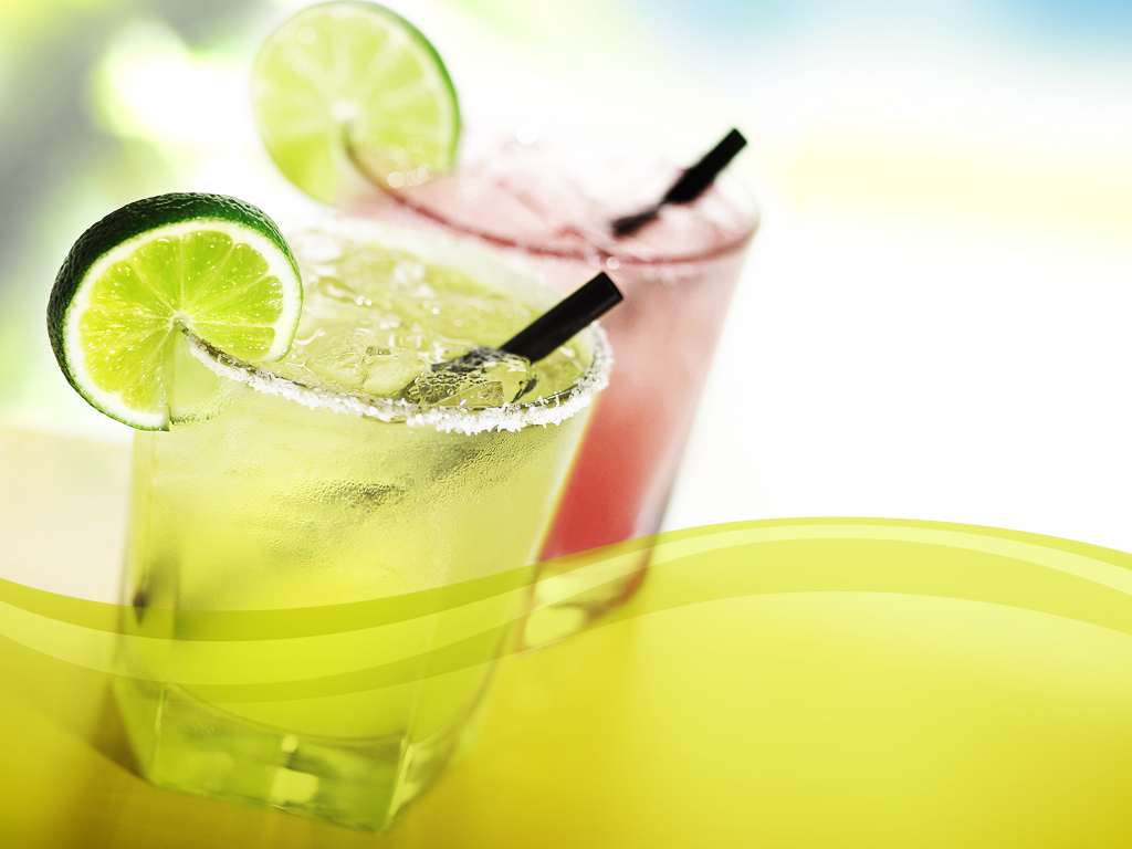 Margaritas lime PPT templates