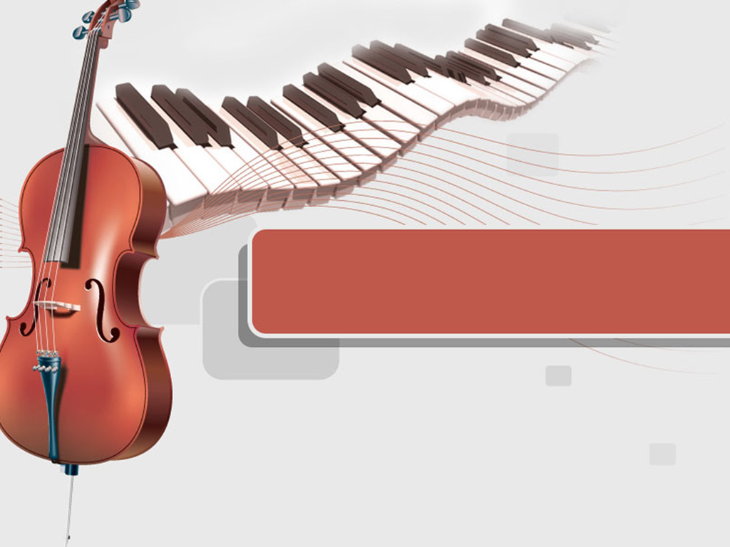 Piano and cello music PPT templates