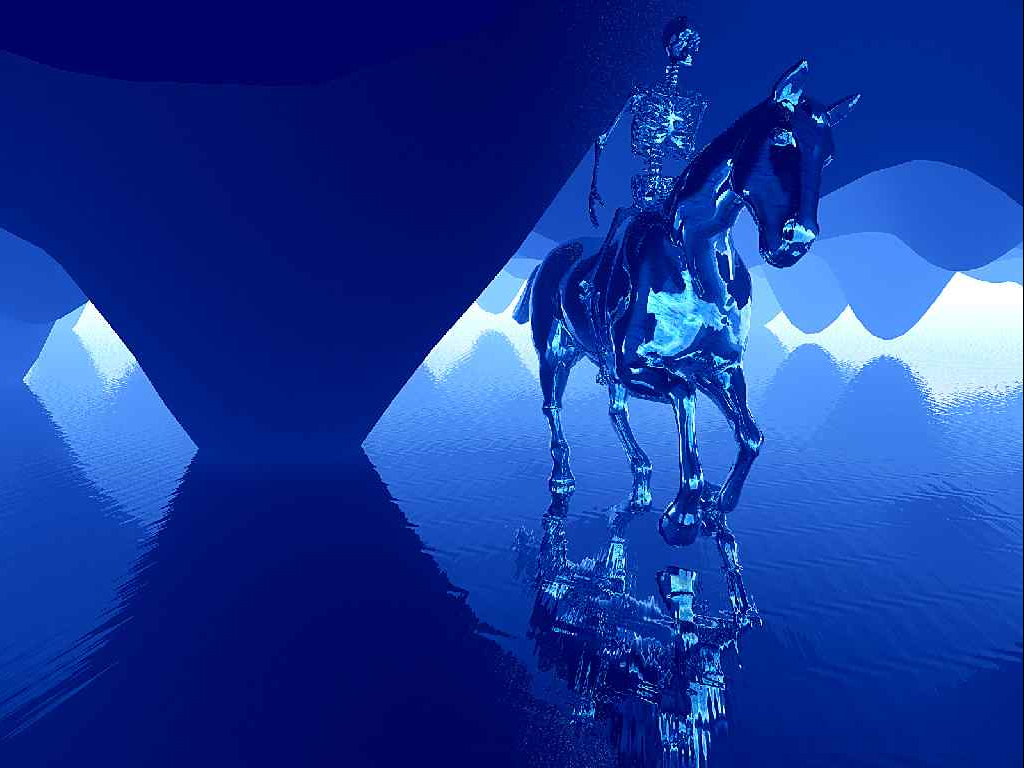 Abstract Horse PPT templates