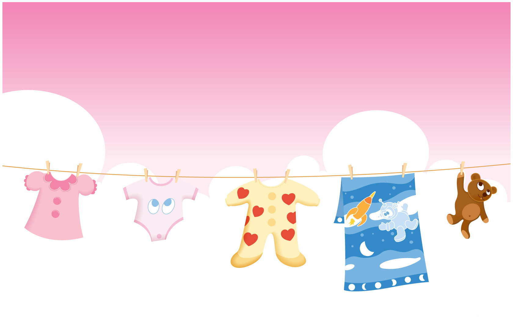 You can Download Free Baby Clothes powerpoint Template Template for ...
