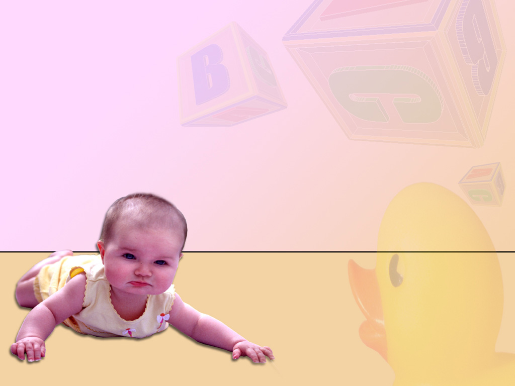 Baby Girls PPT templates