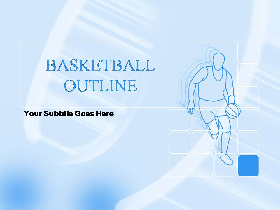 Basketball Outline Templates For Powerpoint Presentations