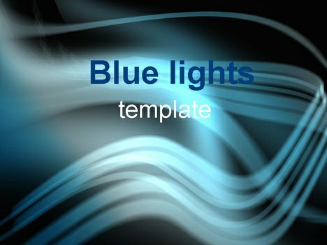 Free Blue Light PPT Template Template for Powerpoint Program