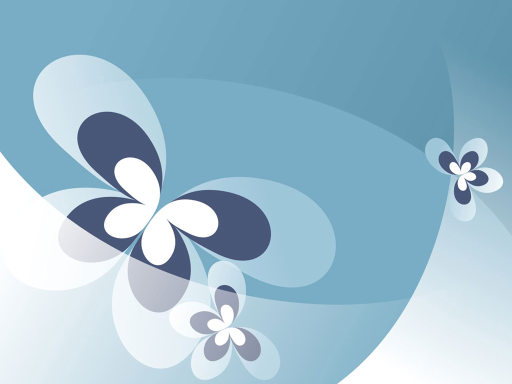 Blue pattern butterfly PPT templates