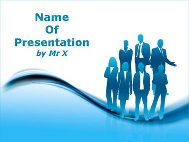 Free Blue Work PPT Template Template for Powerpoint Program