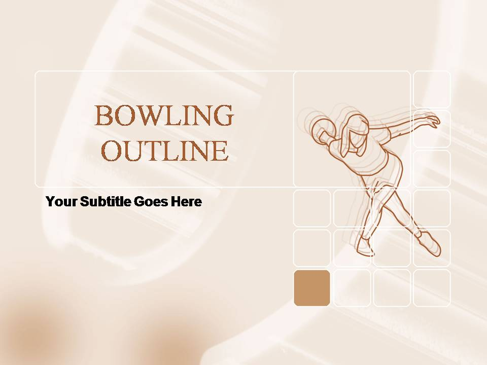 Free Bowling Outline PPT Template Template for Powerpoint Program