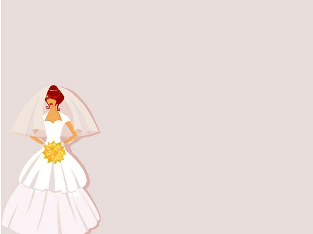 Bridal Beauty PPT templates