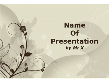 Brown Floral Background PPT templates