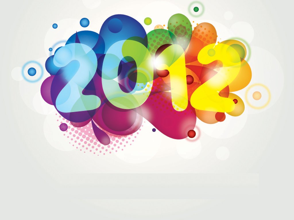 Colorful New Year 2012 PPT templates