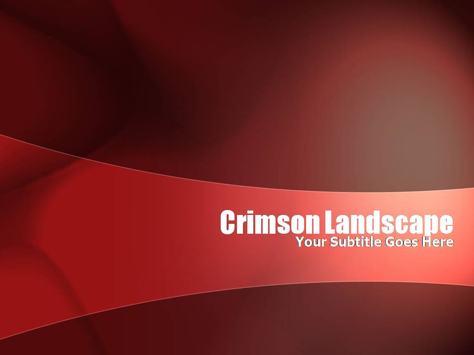 crimson landscape templates for powerpoint presentations