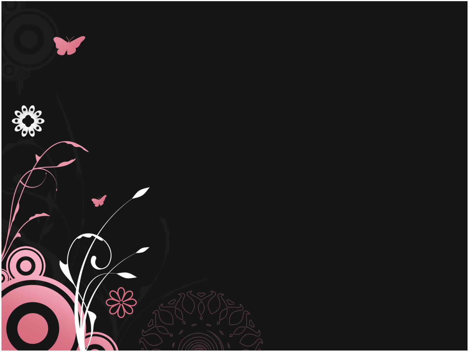 Free Pink Floral PPT Template Template for Powerpoint Program