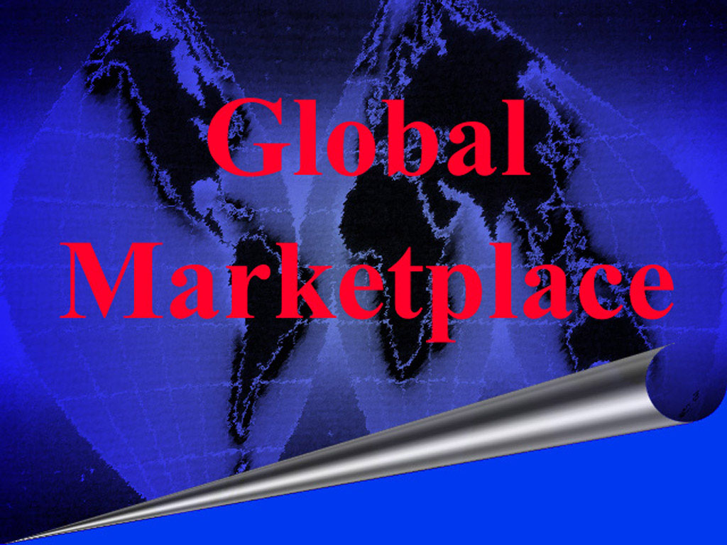 Free Global Market Place powerpoint Template Template for Powerpoint Program
