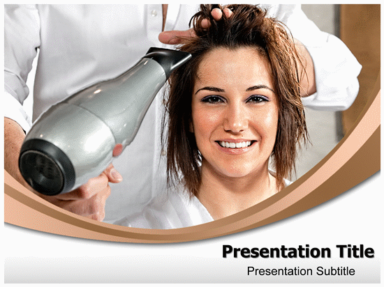 Free Hair Salon PPT Template Template for Powerpoint Program