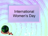 Free International Womens Day PPT Template Template for Powerpoint Program