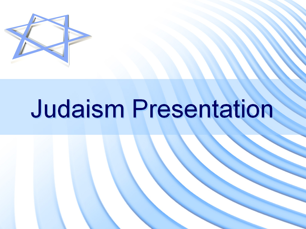 Judaism presentation slide PPT templates