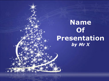 Free Light Christmas Tree PPT Template Template for Powerpoint Program