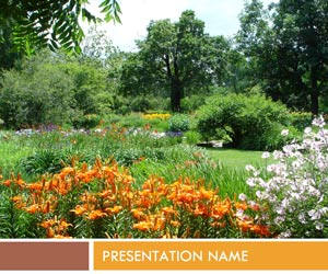 Mixed Flower Garden PPT templates