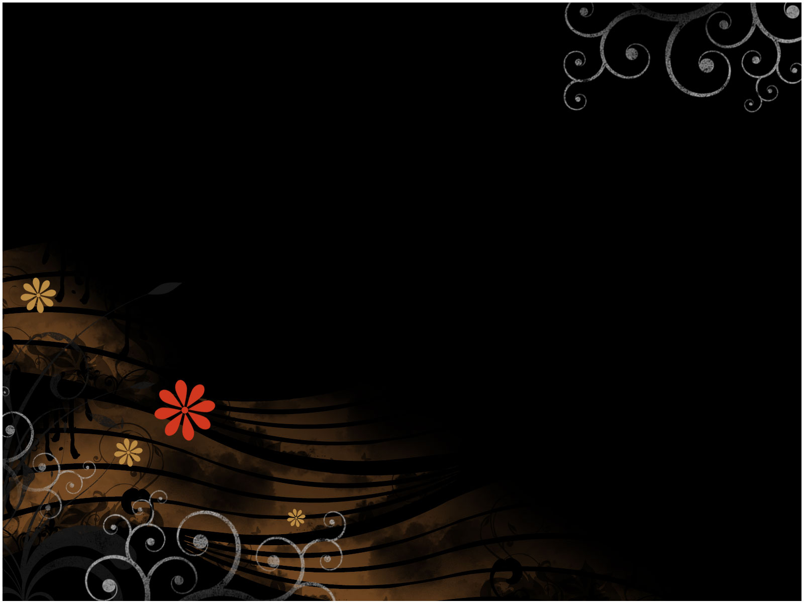 Free Mysterious Flower PPT Template Template for Powerpoint Program