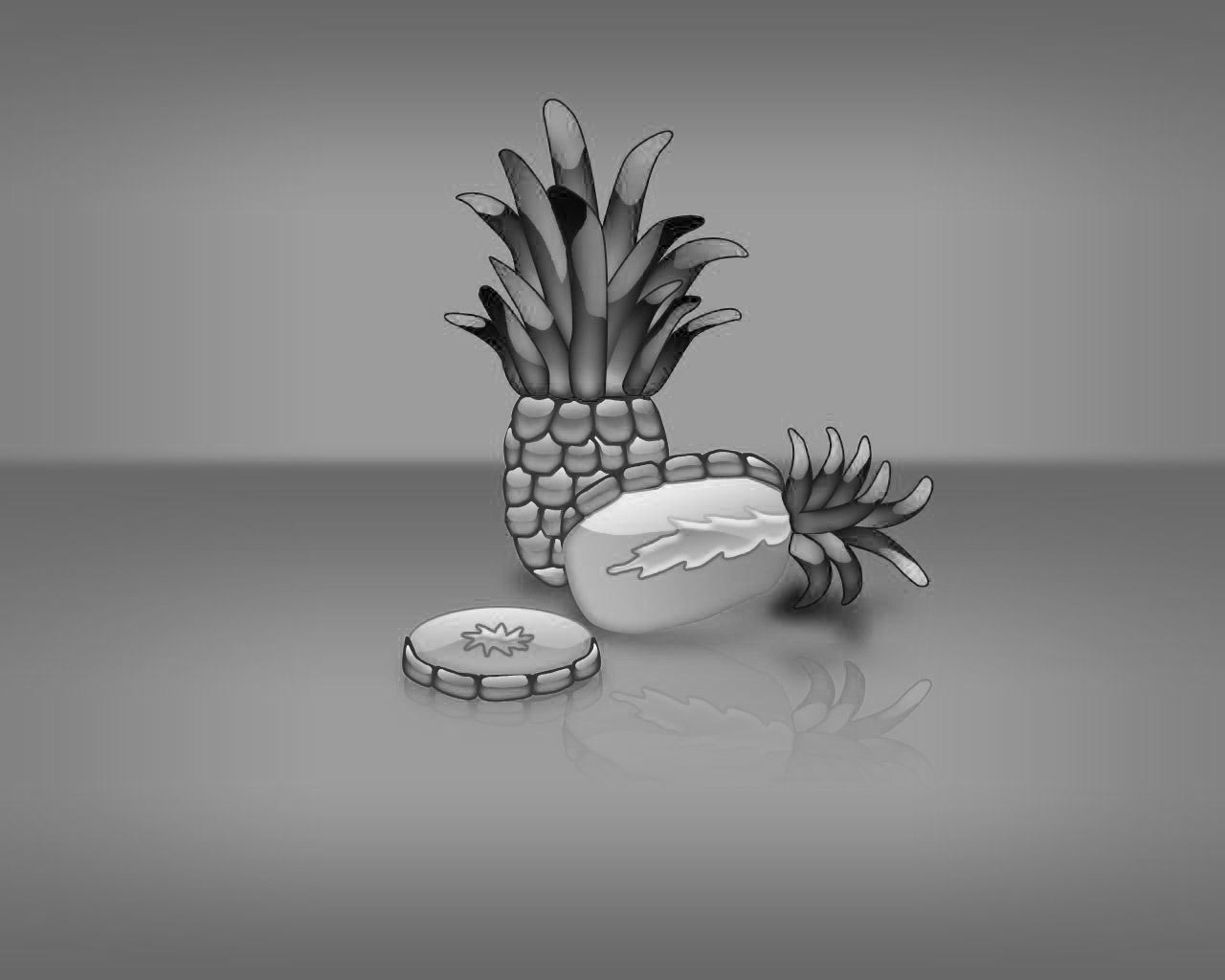 Pineapple Black PPT templates