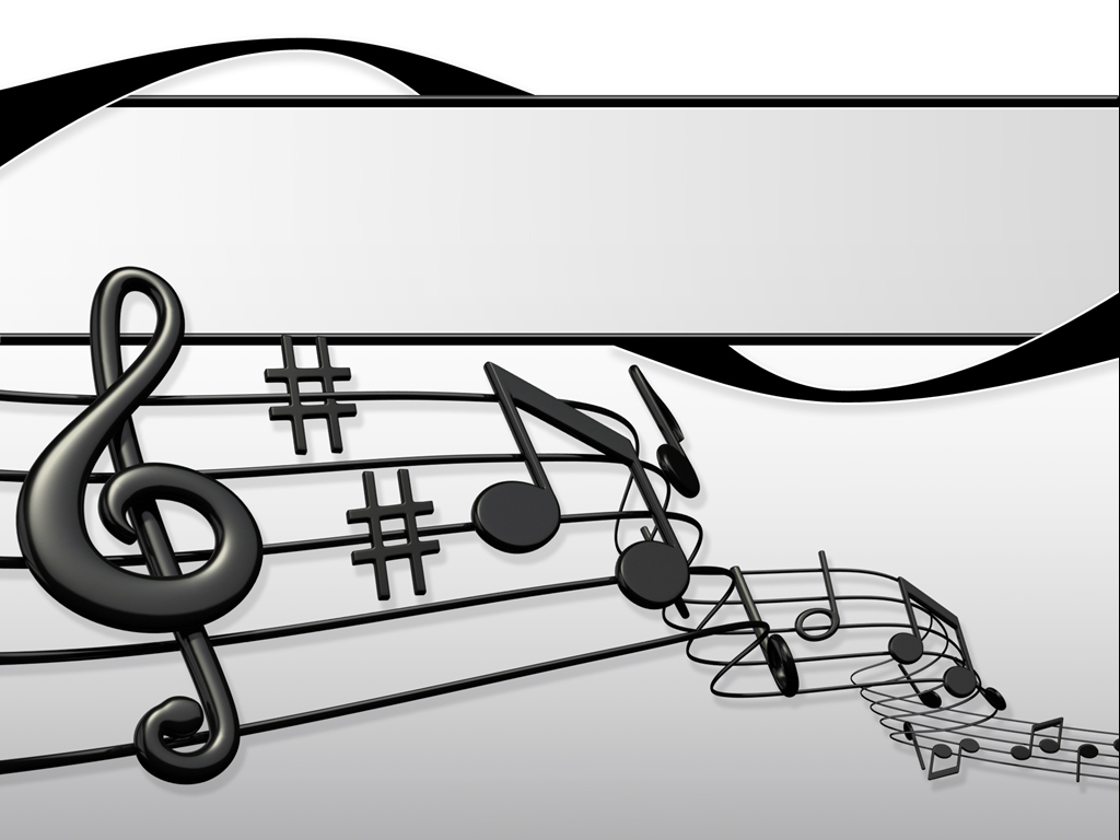 Sheet music presentation PPT templates