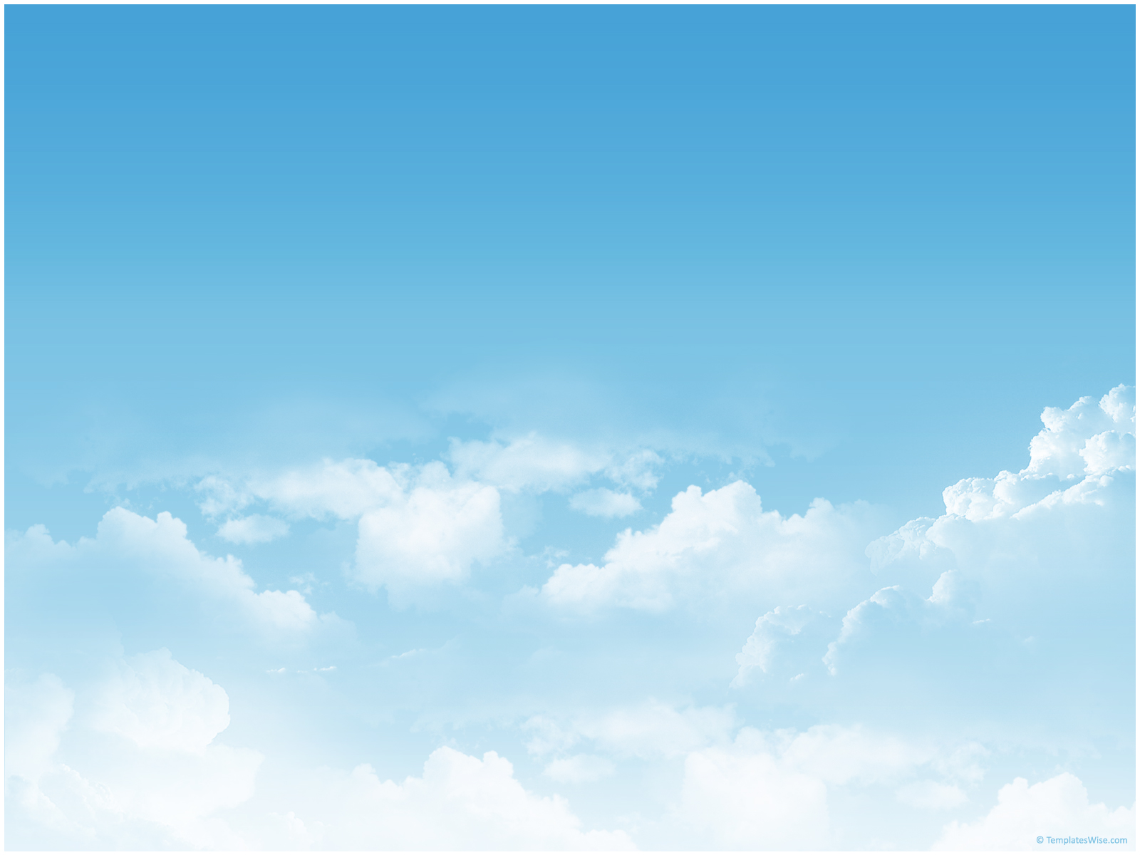 Free Sky Clouds PPT Template Template for Powerpoint Program