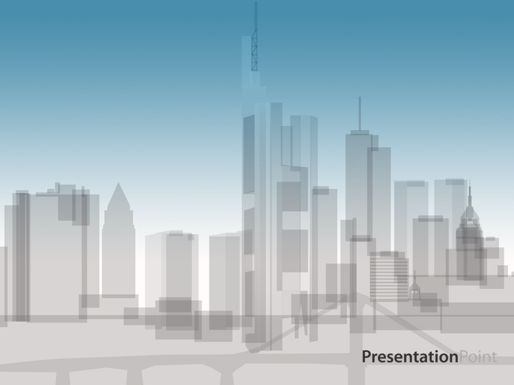 Skyline animation PPT templates