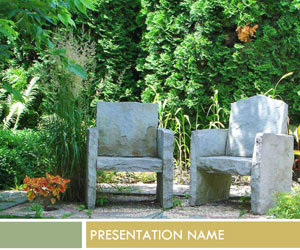 Stone Chairs PPT templates