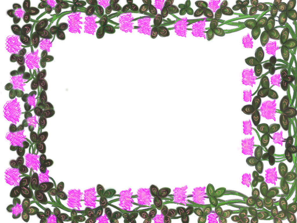 Free Sweet Floral Frame Template for Powerpoint Presentation