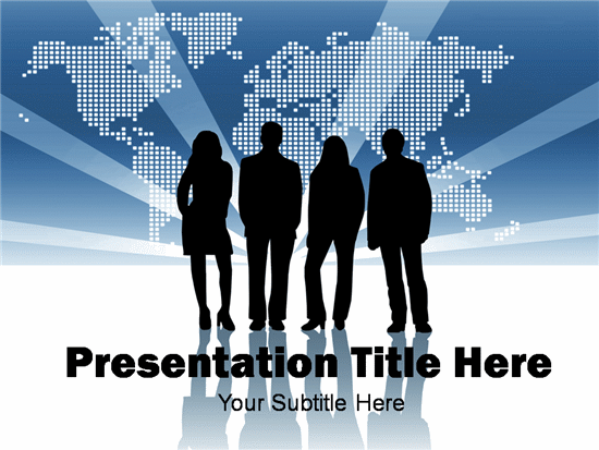 Free team business template for powerpoint presentation