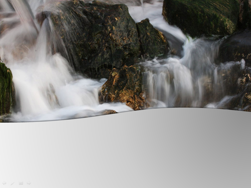 Water fall natural PPT templates