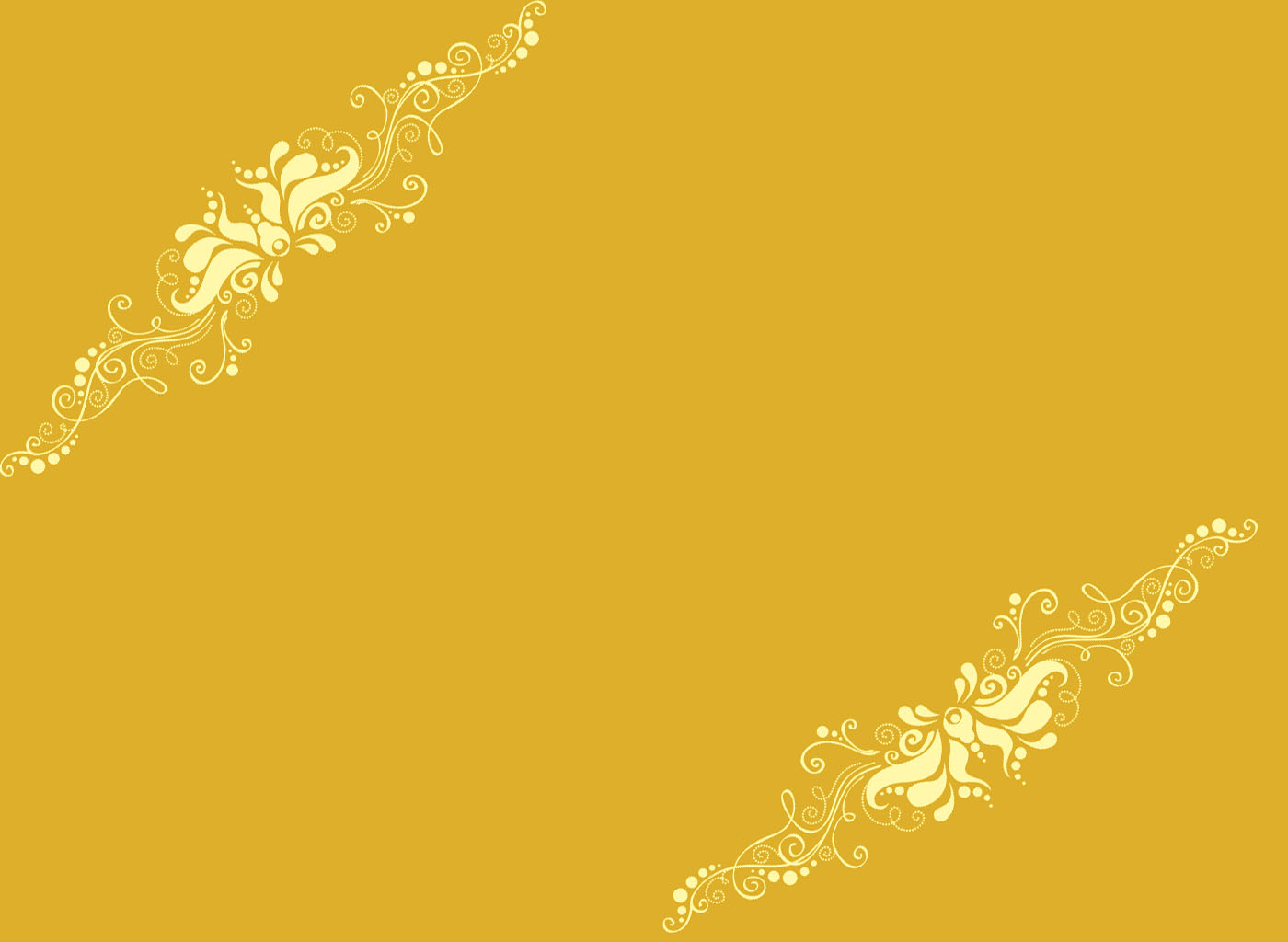 Yellow Ornaments PPT templates