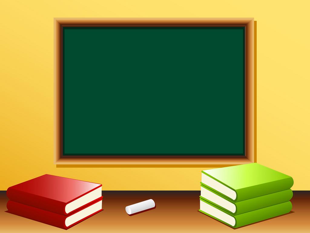 Blank blackboard in a Class room PPT Backgrounds