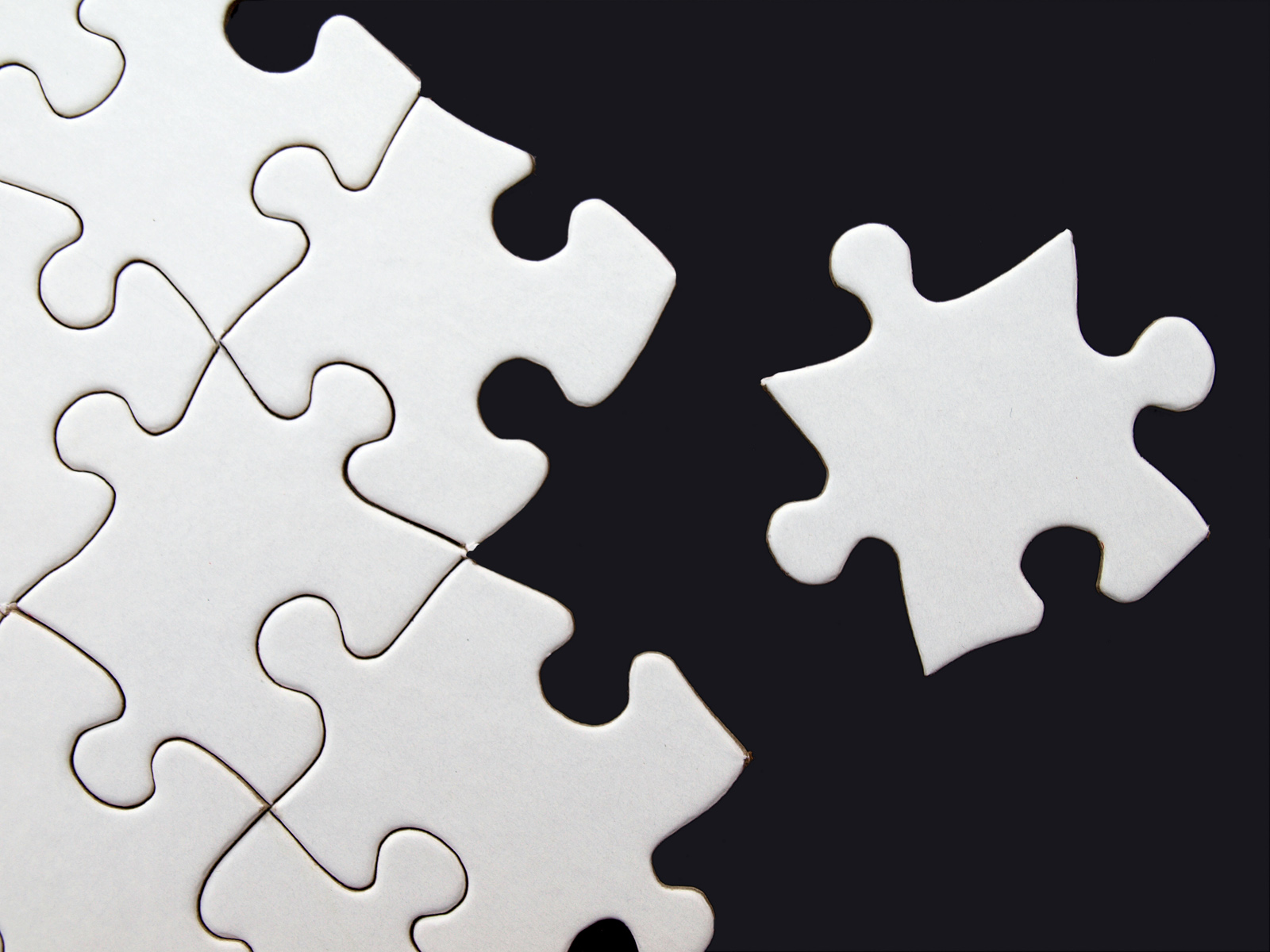 Blank puzzle PPT Backgrounds