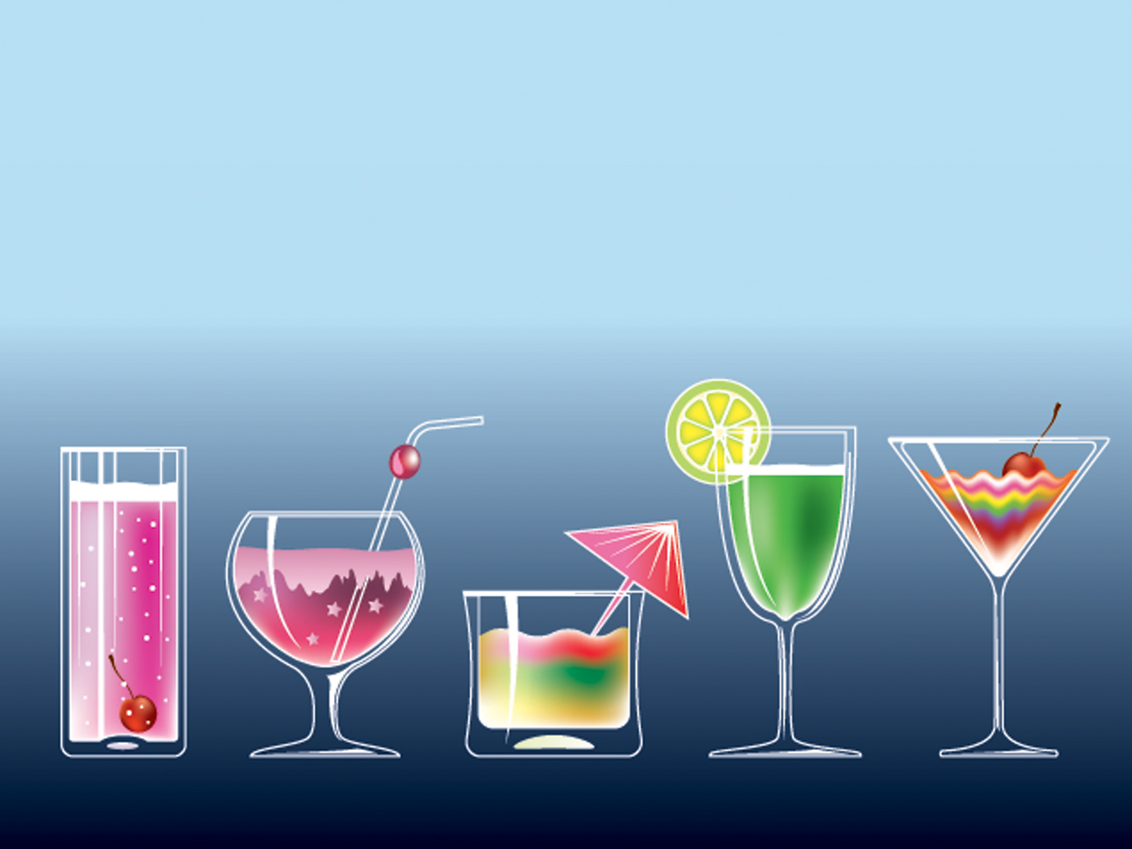 Fruit drinks vector PPT Backgrounds