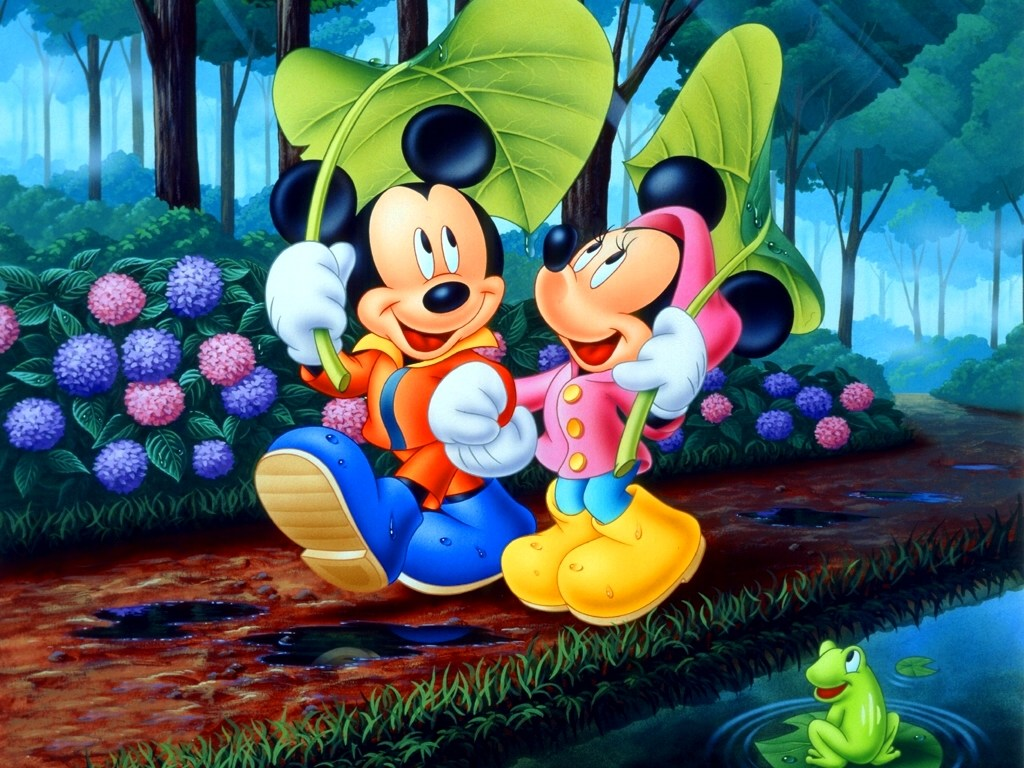 Mickey Mouse and Minnie Mouse PPT Backgrounds